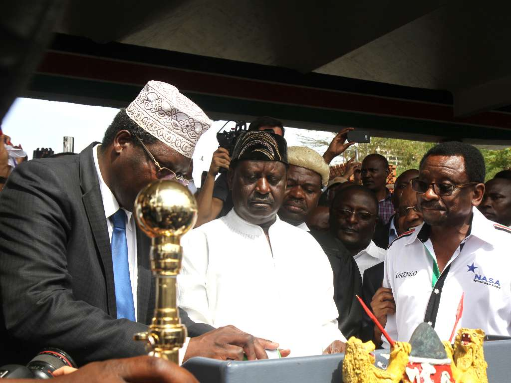 Raila Odinga swearing in