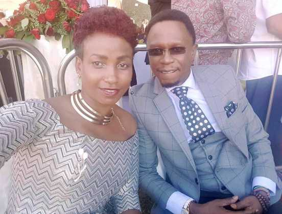 Ababu Namwamba and his wife Priscah