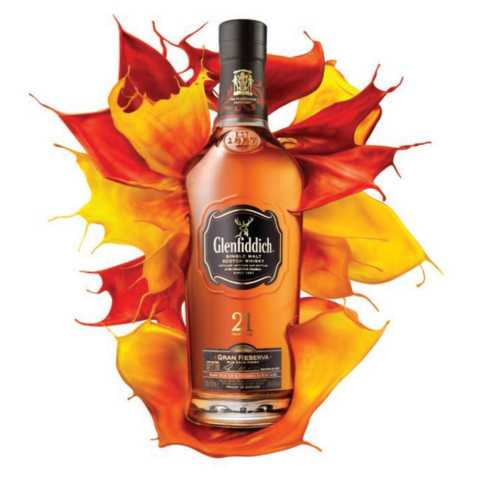The 21 year old variant of Glenfiddich whisky (also known as Glenfiddich 21)