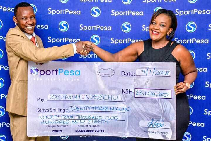 Zachary Ngechu came so close to winning the entire Mega Jackpot. He got 16 out of 17 predictions correctly. Photo / COURTESY