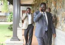 Raila and Kalonzo on Phone