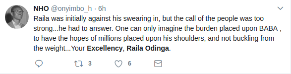 Screenshots about Raila title
