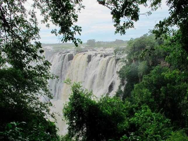 A general view of the Victoria Falls on the Zambezi River