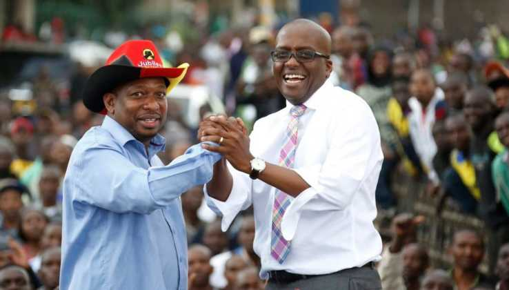Polycarp Igathe and Mike Sonko