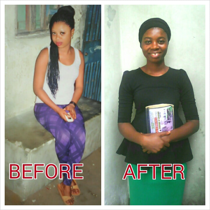 photos of born-again before and after getting saved