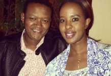 Alfred Mutua and his wife Lillian Nganga