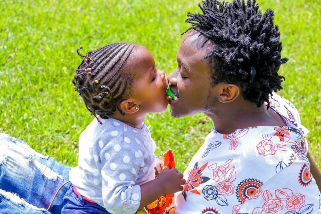 Bahati and daughter