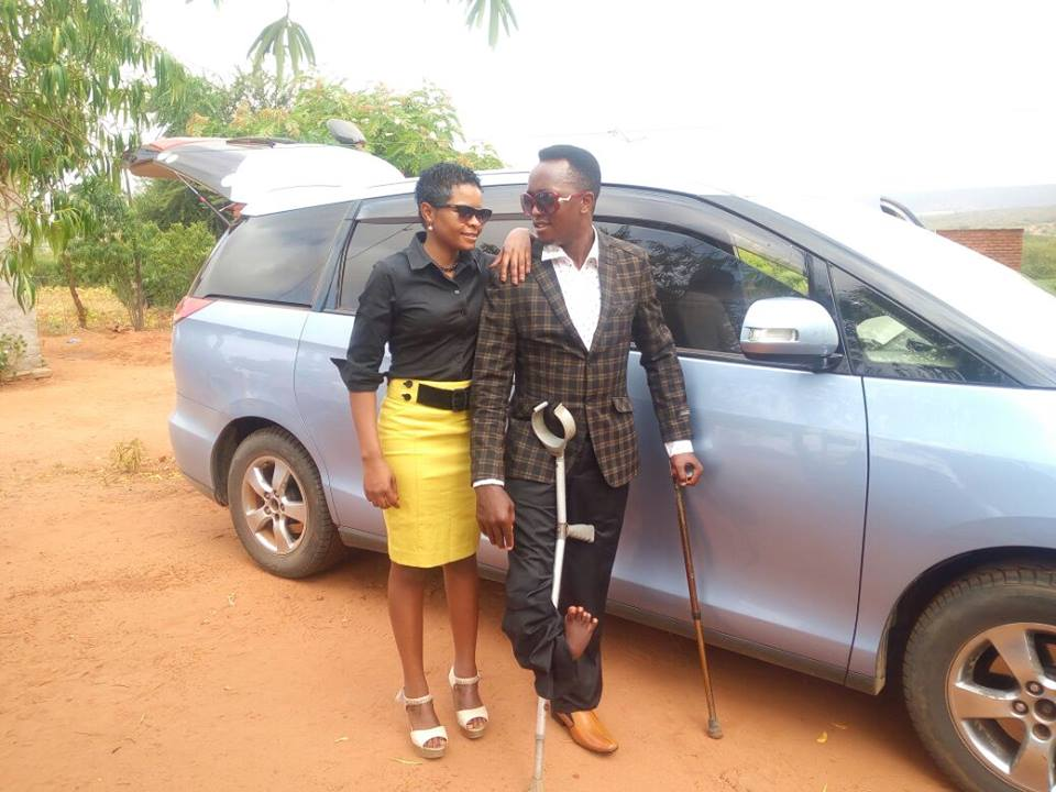 Daniel Tetemesha with wife Purity