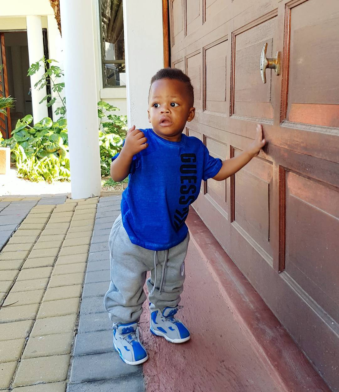 Nillan style - Check out Diamond Platnumz' heir, Prince Nillan flaunting his cars