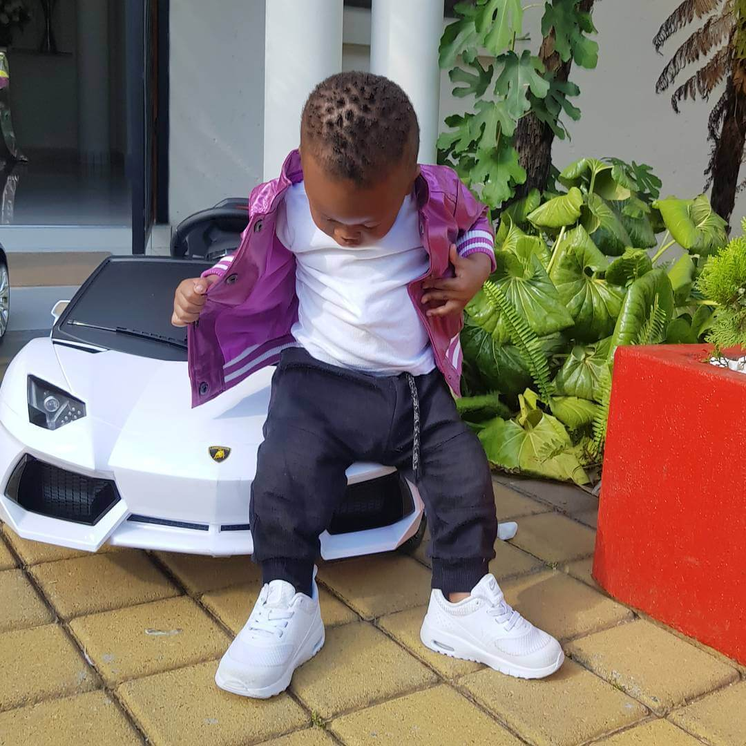 Prince Nillans car - Check out Diamond Platnumz' heir, Prince Nillan flaunting his cars