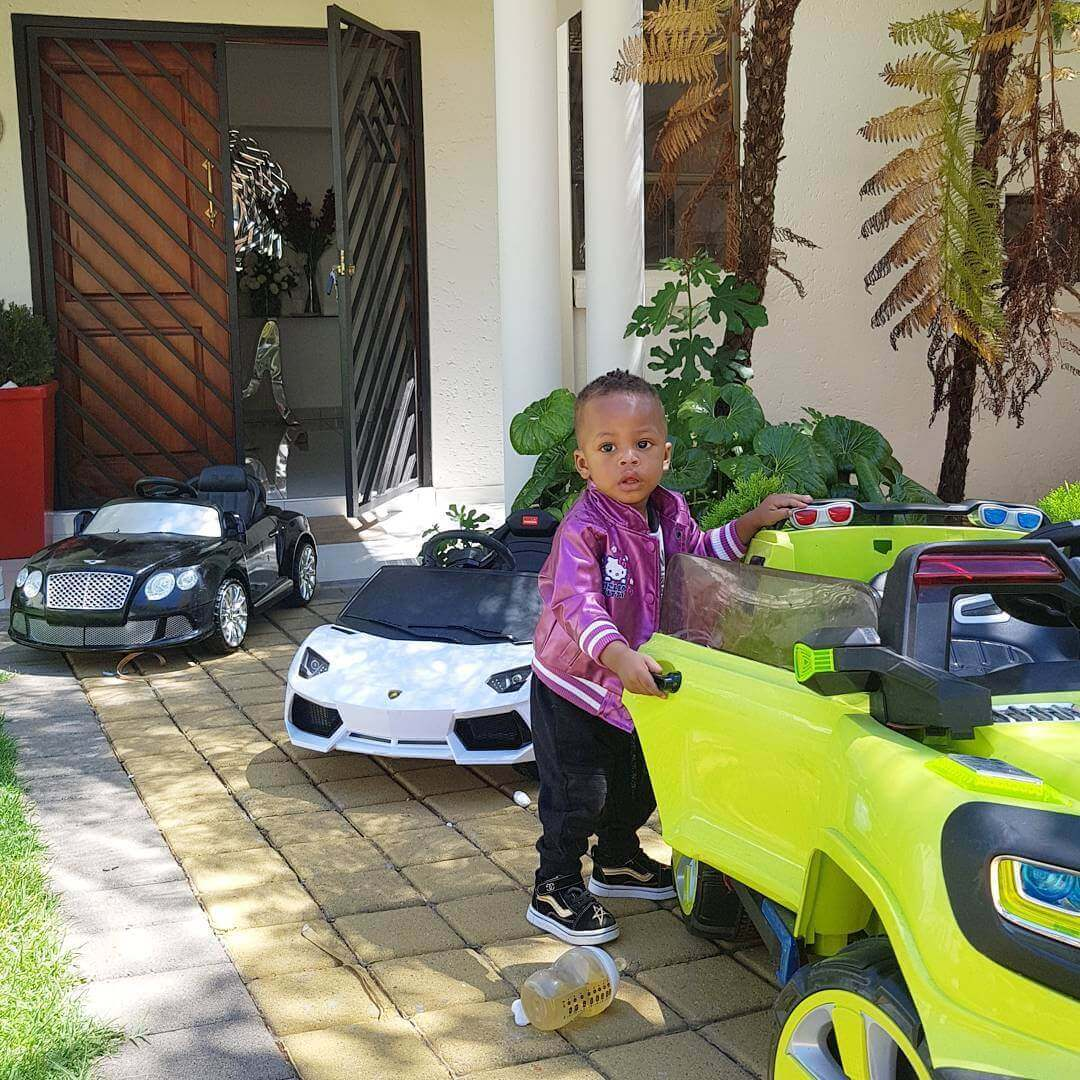 Prince20Nillans20car2 - Check out Diamond Platnumz' heir, Prince Nillan flaunting his cars