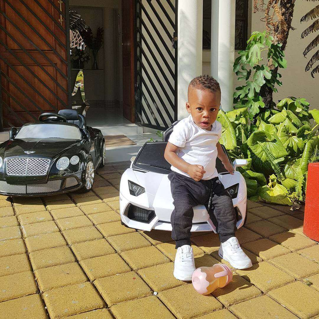 Prince2520Nillans2520car4 - Check out Diamond Platnumz' heir, Prince Nillan flaunting his cars