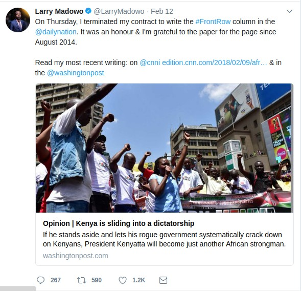 Screenshot Larry Madowo