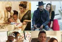 Zari Hassan with Diamond Platnumz and their children