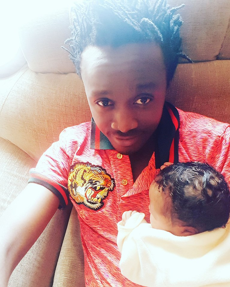 Bahati and his daughter Heaven
