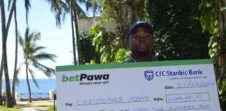 businessman Chris Nonah winner on betPawa