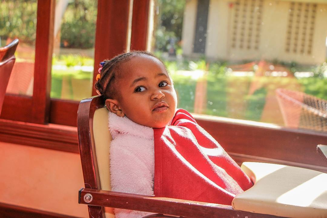 ladasha - Photos of DJ Mo and Size 8's daughter with her game face on