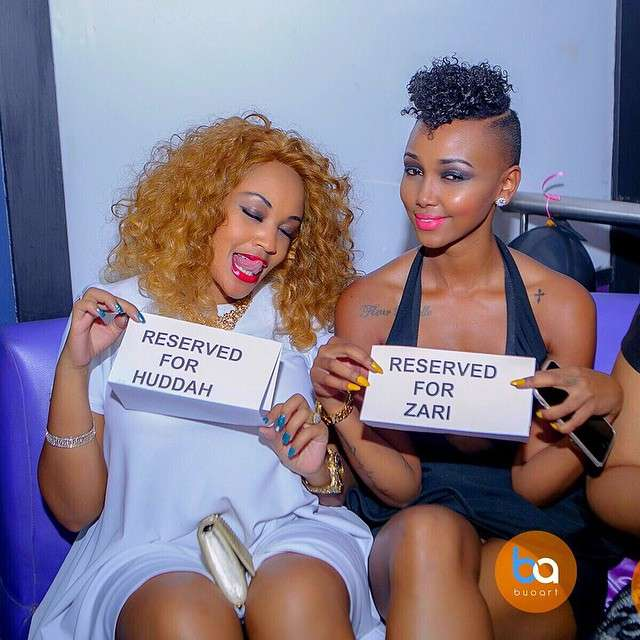 Zari and Huddah in the past