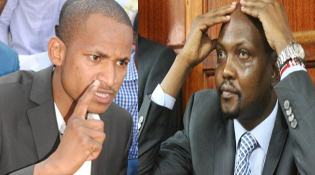 Moses Kuria and Babu Owino