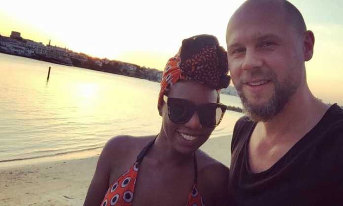 Annabel Onyango with her husband