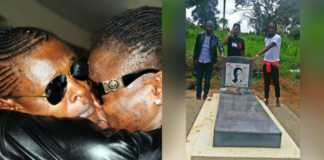 Jose Chameleone's late brother's grave