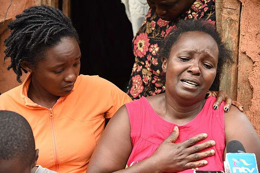 Angelos Miano Muthee's mother mourning