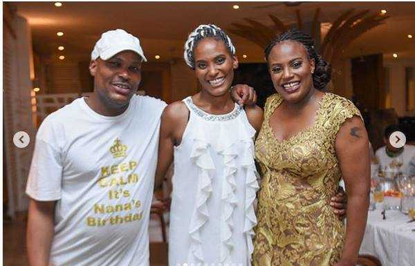 Nana Gecaga woth Jomo 600x385 - Pesa si shida! Uhuru Kenyatta's niece steps out with an expensive Louis Vuitton belt, worth your rent