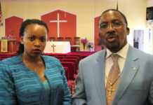 Pator Ng'ang'a with his wife