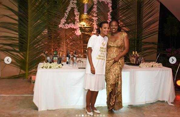 nana445 594x385 - Pesa si shida! Uhuru Kenyatta's niece steps out with an expensive Louis Vuitton belt, worth your rent