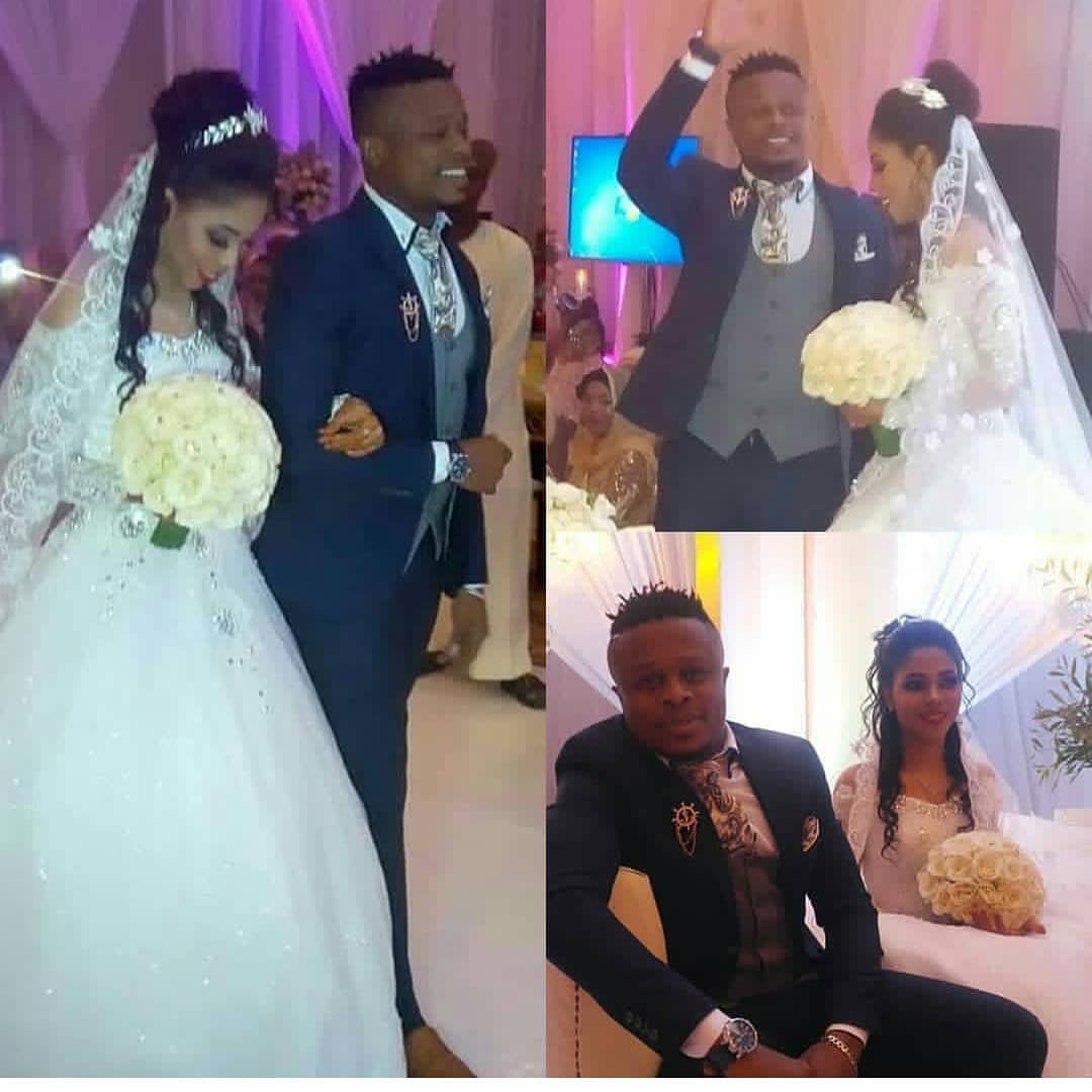 Ali Kiba's brother with his wife