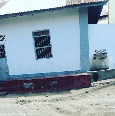 The old home that Amina Khalef's family stayed in