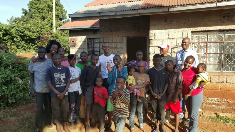 The kids at the children's home
