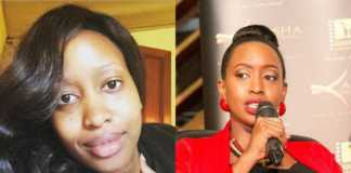 Janet Mbugua with and without makeup