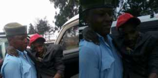 Kanjo askari helping disabled man
