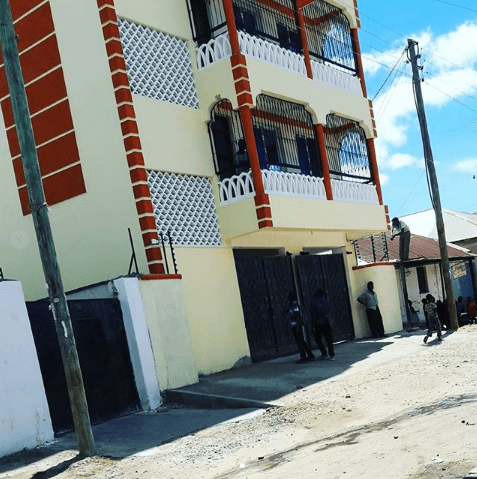 The new home that Amina Khalef's family are now staying in