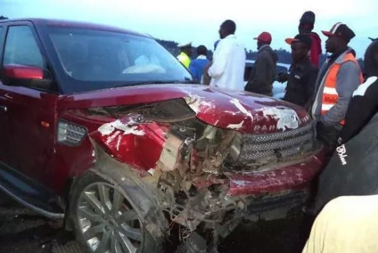 Pastor Nganga's Range Rover that was involved in an accident