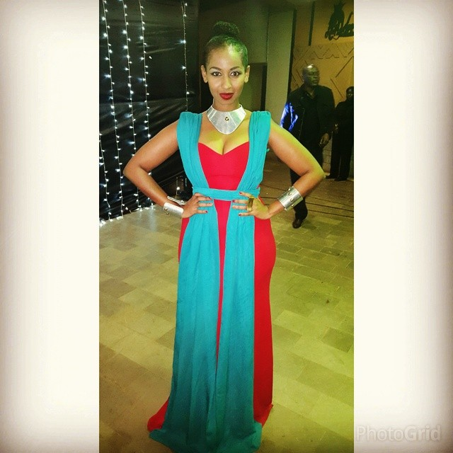 sarah hassan - Top 8 Kenyan celebrities that pull that perfect Red Carpet gown look