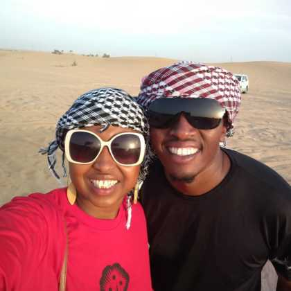 Vivian and Sam West in Dubai