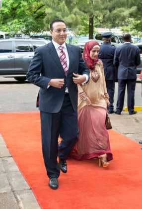 Najib Balala with his wife
