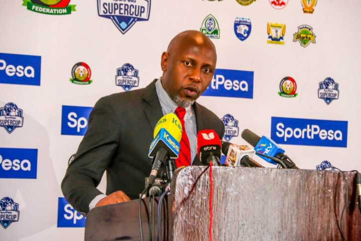 SportPesa Chief Marketing Officer, Kelvin Twissa during the launch in Nairobi. Photo / SPORTPESA