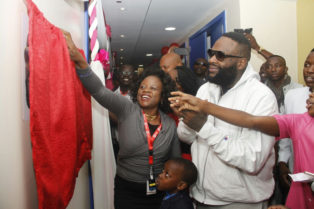 Rick Ross at Texas Cancer Centre