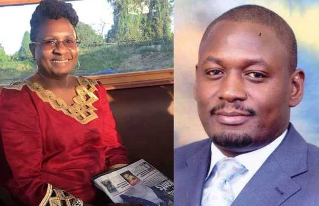 Otiende Amollo with his wife