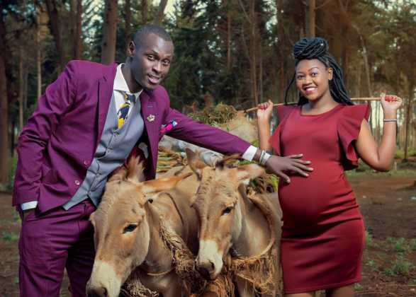 kaka 587x420 - Here are 6 bizarre Kenyan celebrity baby bump photoshoots (Photos)