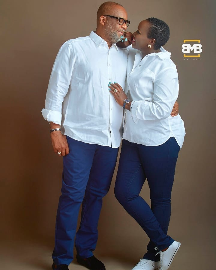 Emmy Kosgei and husband