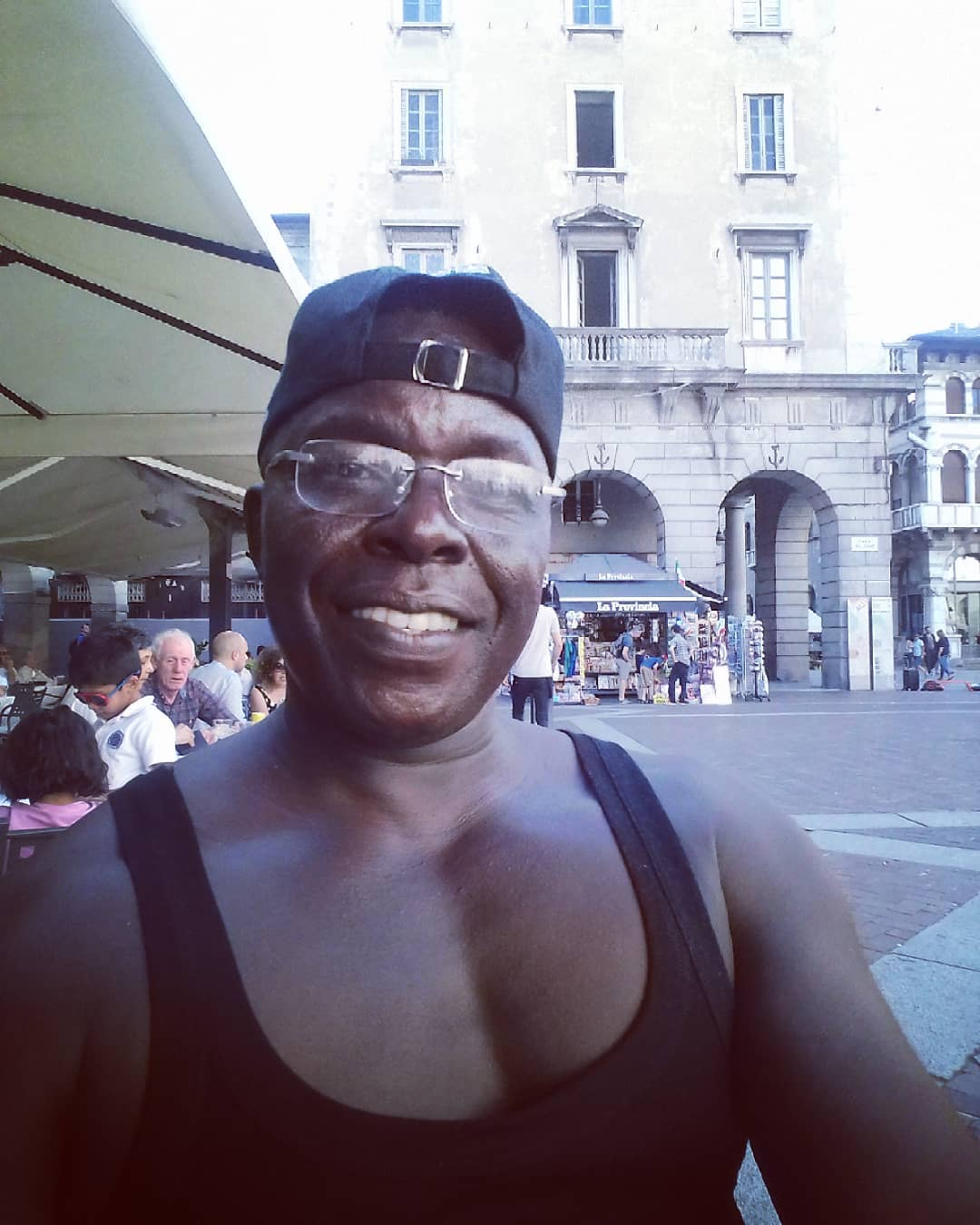 Akothee's bodyguard in Italy