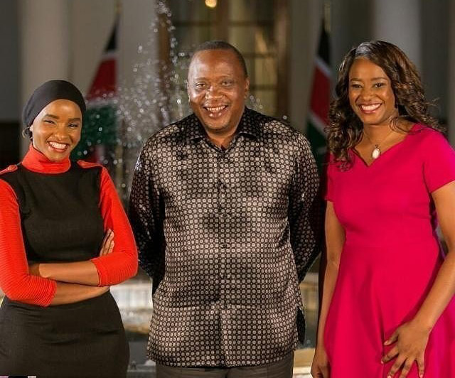 Kanze Dena with Uhuru Kenyatta - Kanze Dena, 39, gets married in top secret wedding