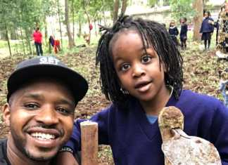 Boniface Mwangi and his son