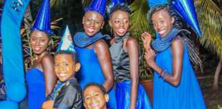 Akothee with her five children
