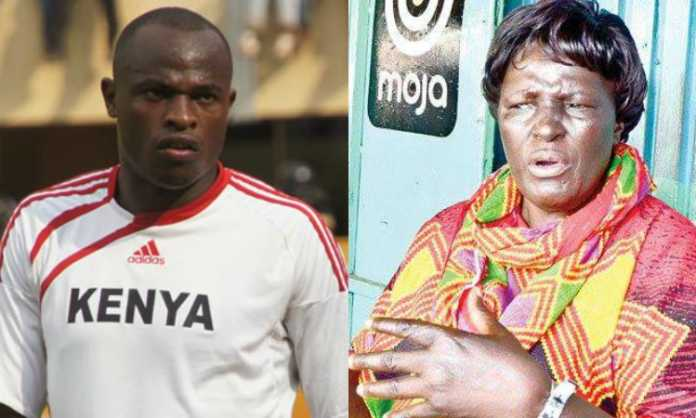 Dennis Oliech and his mother