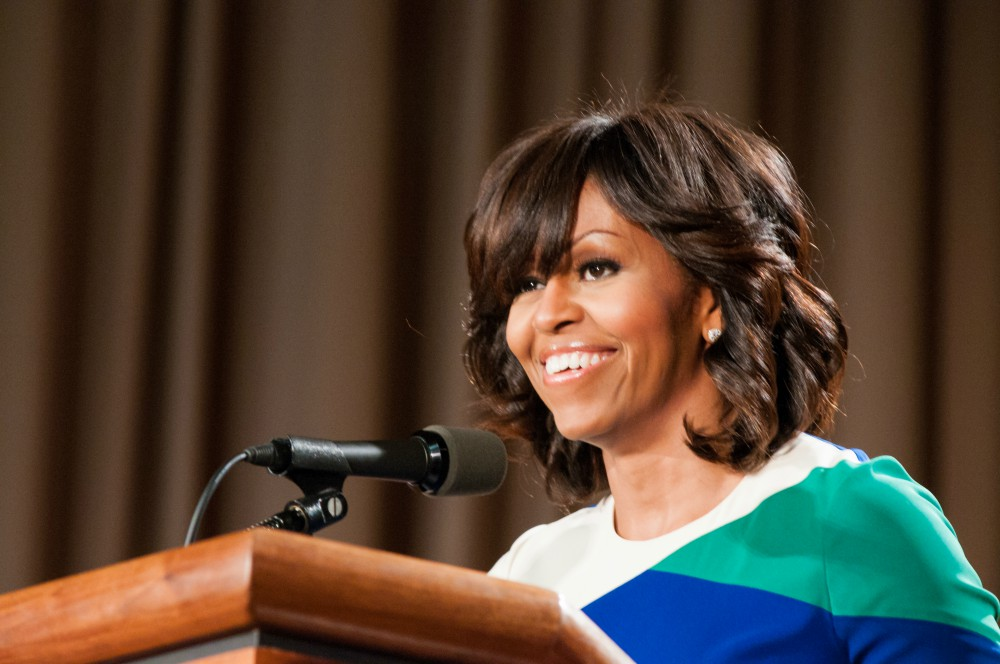 First Lady Michelle Obama thanks U.S. Department of Agriculture USDA employees for their service and dedication at the Jefferson Auditorium USDA on Friday May 3 2013 Pic 3 - Journalist blasts slay queens, 'Has KTN's Mary Kilobi Atwoli stopped working?'